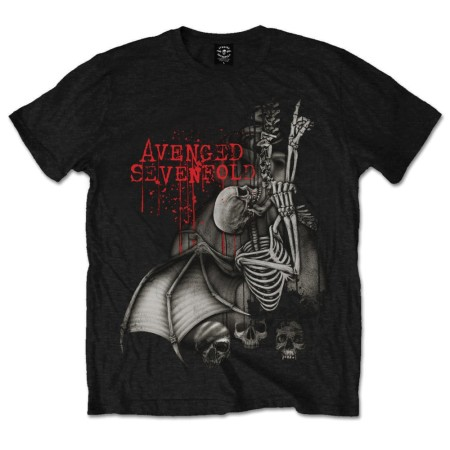 AVENGED SEVENFOLD MENS BLACK TSHIRT - SPINE CLIMBER