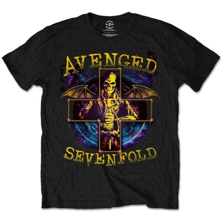AVENGED SEVENFOLD MENS BLACK TSHIRT - STELLAR