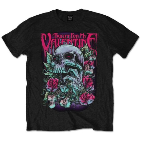 BULLET FOR MY VALENTINE MENS TSHIRT - SKULL RED EYES