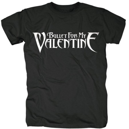 BULLET FOR MY VALENTINE MENS BLACK TSHIRT - LOGO