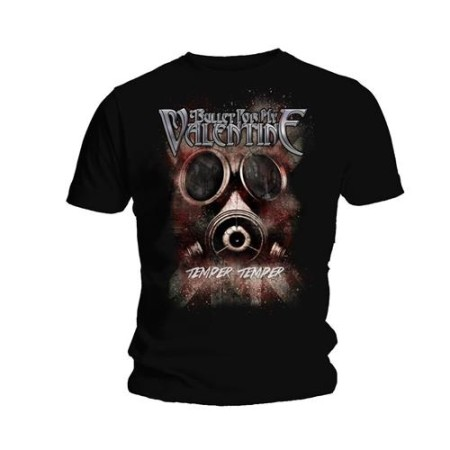BULLET FOR MY VALENTINE MENS TSHIRT - TEMPER TEMPER GAS MASK