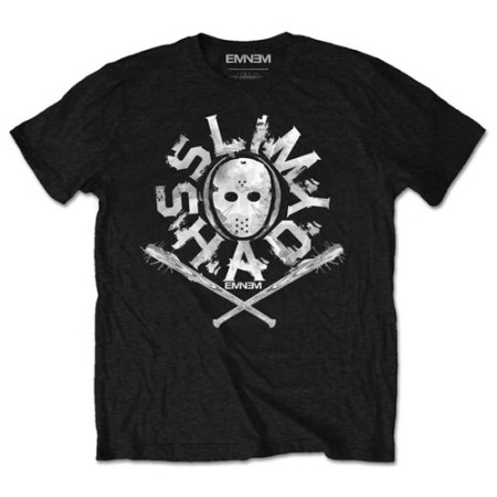 EMINEM MENS BLACK TSHIRT - SHADY MASK
