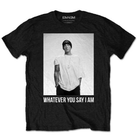 EMINEM MENS BLACK TSHIRT - WHATEVER