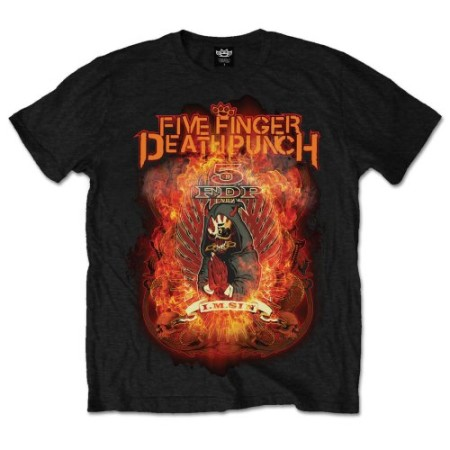 FIVE FINGER DEATH PUNCH MENS TSHIRT - BURN IN SIN