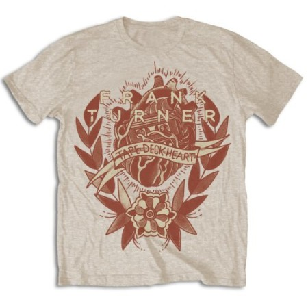 FRANK TURNER MENS TSHIRT - TAPE DECK HEART