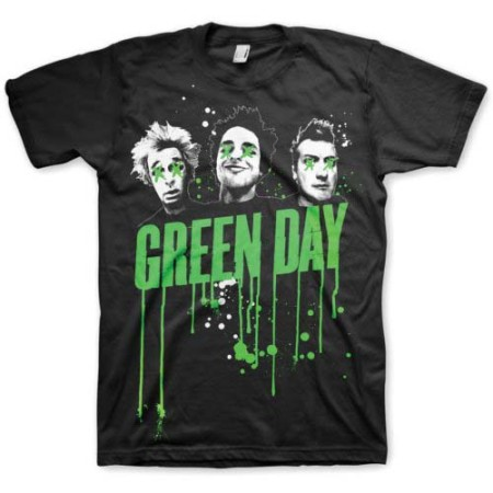 GREEN DAY MENS BLACK TSHIRT - DRIPS