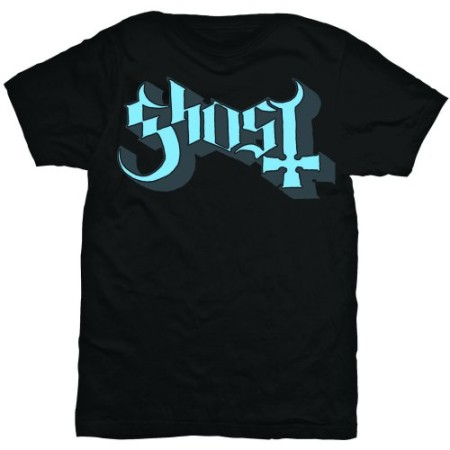 GHOST MENS TSHIRT - BLUE GREY KEYLINE LOGO