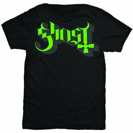 GHOST MENS TSHIRT - GREEN GREY KEYLINE LOGO