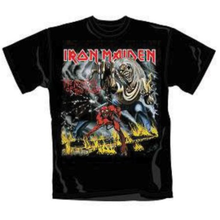 IRON MAIDEN MENS TSHIRT - NUMBER OF THE BEAST