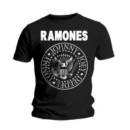 RAMONES MENS BLACK T-SHIRT - SEAL
