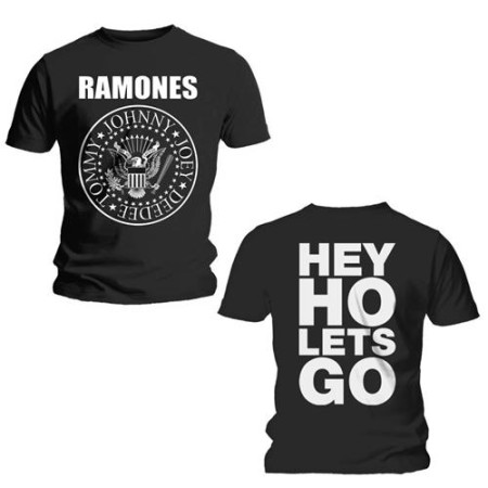 RAMONES T-SHIRT - HEY LO LETS GO