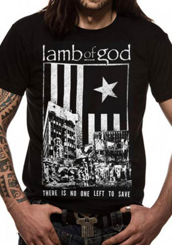 LAMB OF GOD MENS BLACK T-SHIRT - NO ONE LEFT TO SAVE