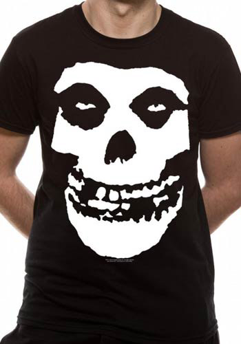 MISFITS MENS BLACK T-SHIRT - SKULL