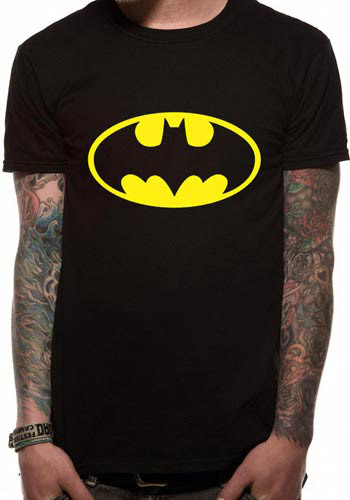 BATMAN MENS BLACK TSHIRT - LOGO