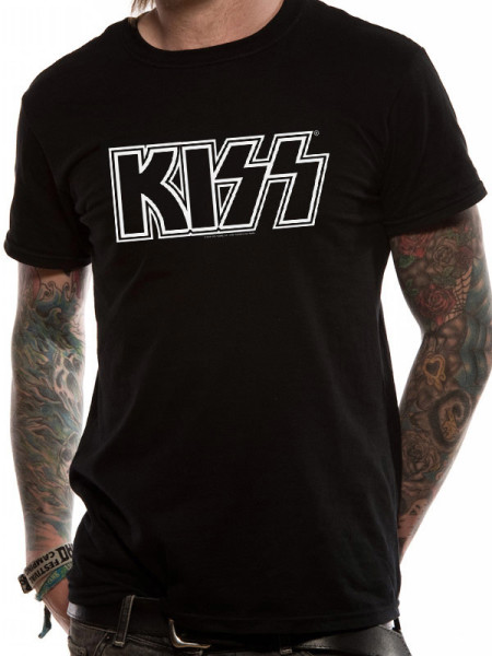 KISS MENS BLACK T-SHIRT - BASIC LOGO