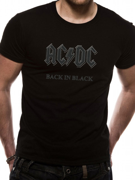AC/DC MENS BLACK T-SHIRT - BACK IN BLACK