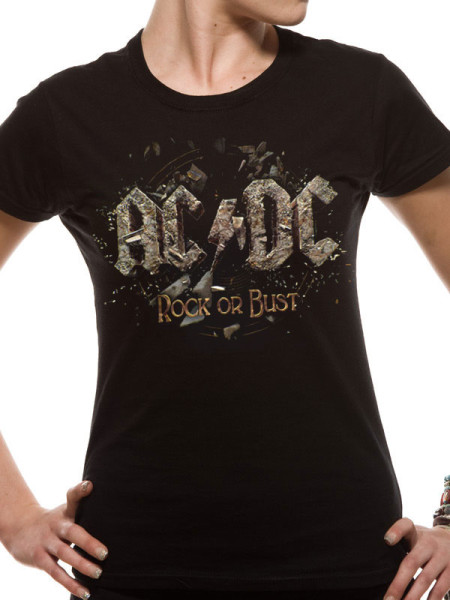 AC/DC LADIES T-SHIRT - ROCK OR BUST