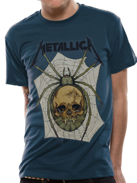 METALLICA MENS T-SHIRT - SPIDER SKULL