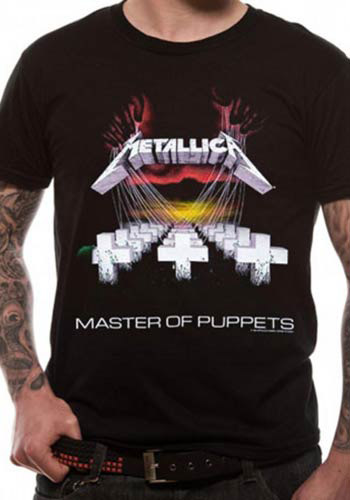 METALLICA MENS BLACK T-SHIRT - MASTER OF PUPPETS
