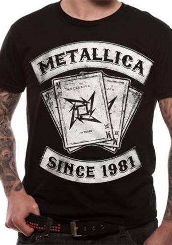 METALLICA MENS BLACK T-SHIRT - DEALER