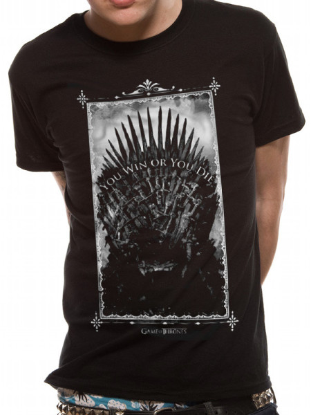GAME OF THRONES MENS BLACK TSHIRT - WIN OR DIE