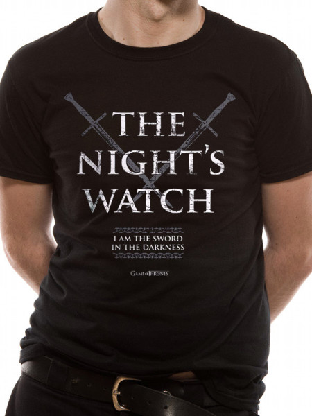 GAME OF THRONES MENS BLACK TSHIRT - NIGHTS WATCH