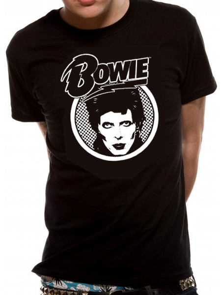 DAVID BOWIE MENS T-SHIRT - DIAMOND DOGS LOGO