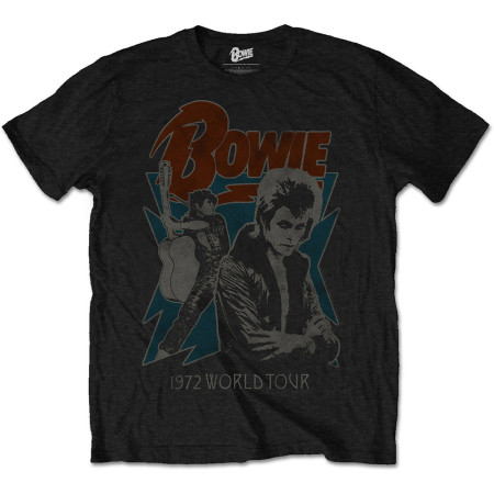 DAVID BOWIE MENS TSHIRT - 1972 WORLD TOUR