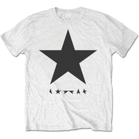 DAVID BOWIE MENS WHITE TSHIRT - BLACKSTAR