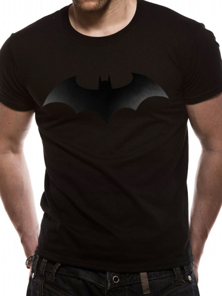 BATMAN MENS BLACK T-SHIRT - BLACK BAT