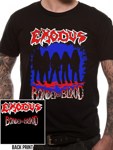 EXODUS MENS BLACK T-SHIRT - BONDED BY BLOOD