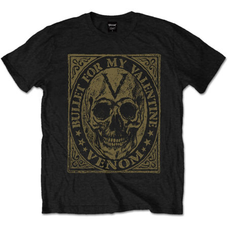 BULLET FOR MY VALENTINE MENS BLACK TSHIRT - VENOM SKULL