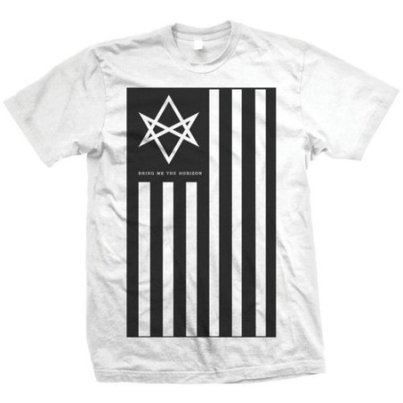 BRING ME THE HORIZON MENS WHITE TSHIRT - ANTIVIST