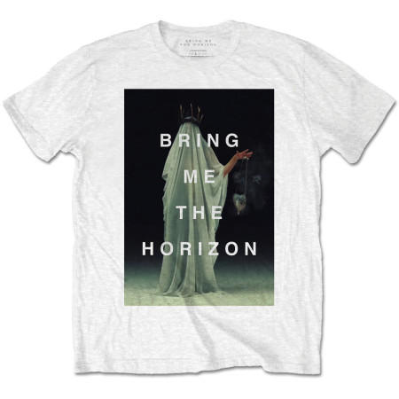 BRING ME THE HORIZON MENS WHITE TSHIRT - CLOAKED