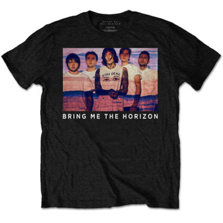 BRING ME THE HORIZON MENS BLACK TSHIRT - PHOTO LINES