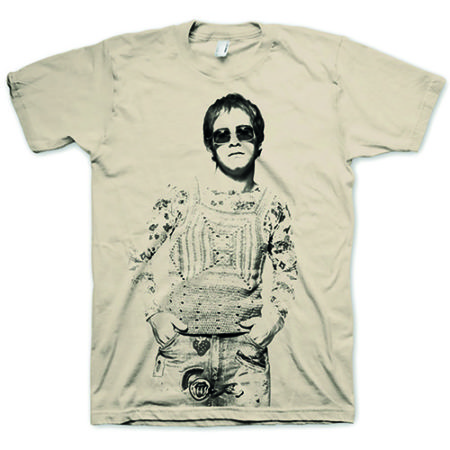 ELTON JOHN MENS CREAM TSHIRT - NODDY