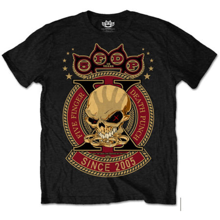 FIVE FINGER DEATH PUNCH MENS TSHIRT - ANNIVERSARY