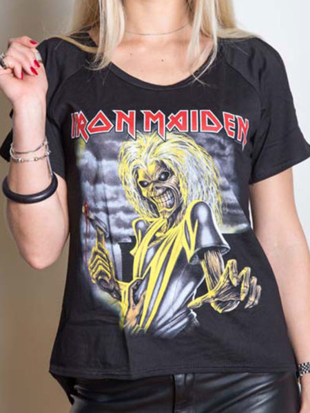 IRON MAIDEN LADIES CUT OUT TSHIRT - KILLERS