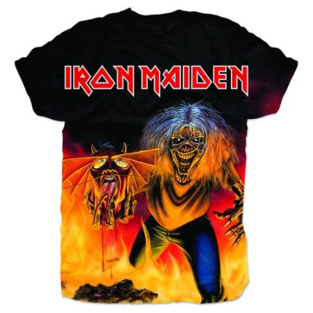 IRON MAIDEN MENS BLACK TSHIRT - NUMBER OF THE BEAST