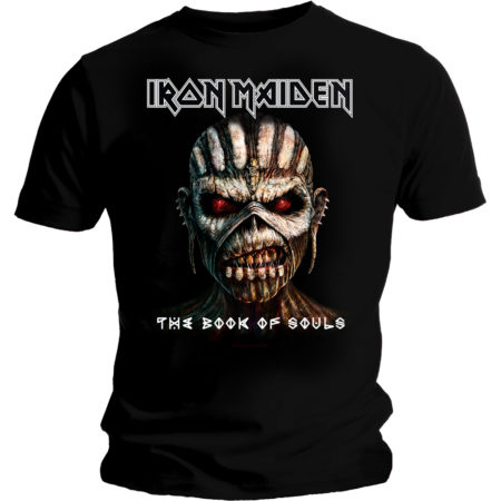 IRON MAIDEN MENS BLACK TSHIRT - BOOK OF SOULS