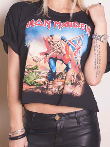 IRON MAIDEN LADIES CUT OUT TSHIRT - TROOPER