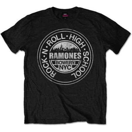 RAMONES MENS T-SHIRT - ROCK N ROLL HIGH SCHOOL