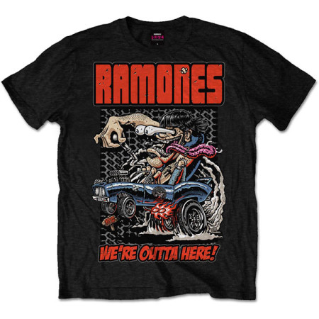 RAMONES MENS T-SHIRT - WERE OUTTA HERE
