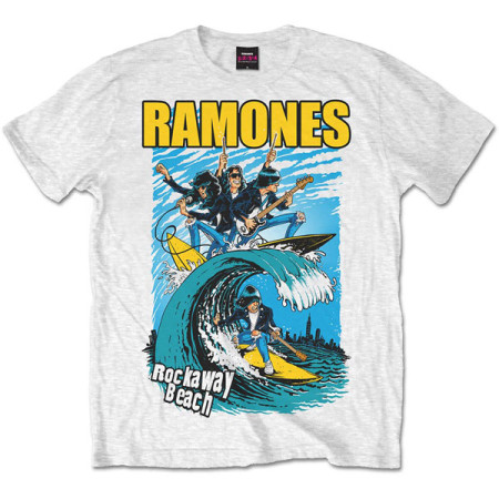 RAMONES MENS T-SHIRT - ROCKAWAY BEACH