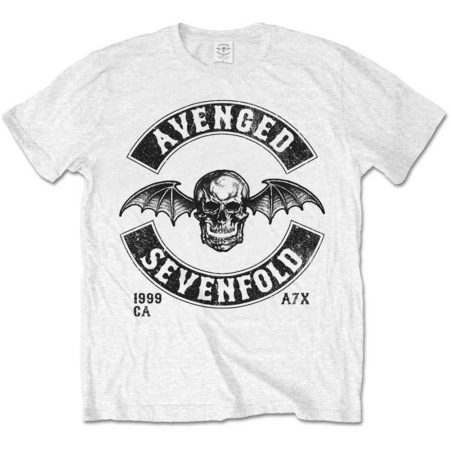 AVENGED SEVENFOLD MENS WHITE TSHIRT - MOTO SEAL