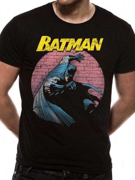 BATMAN MENS BLACK T-SHIRT - SPOTLIGHT