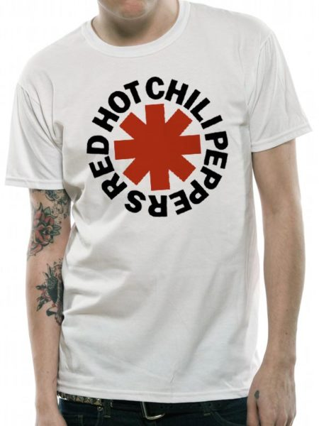 RED HOT CHILI PEPPERS MENS WHITE T-SHIRT - ASTERISK
