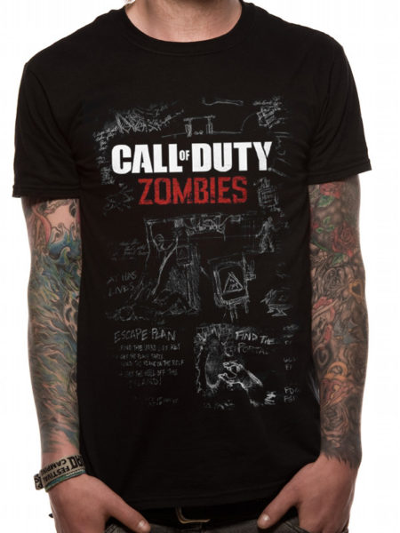 CALL OF DUTY BLACK OPS 3 MENS TSHIRT - MOB OF THE DEAD